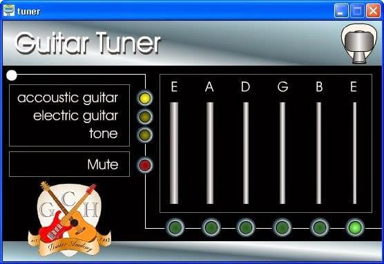 Guitar tuner software