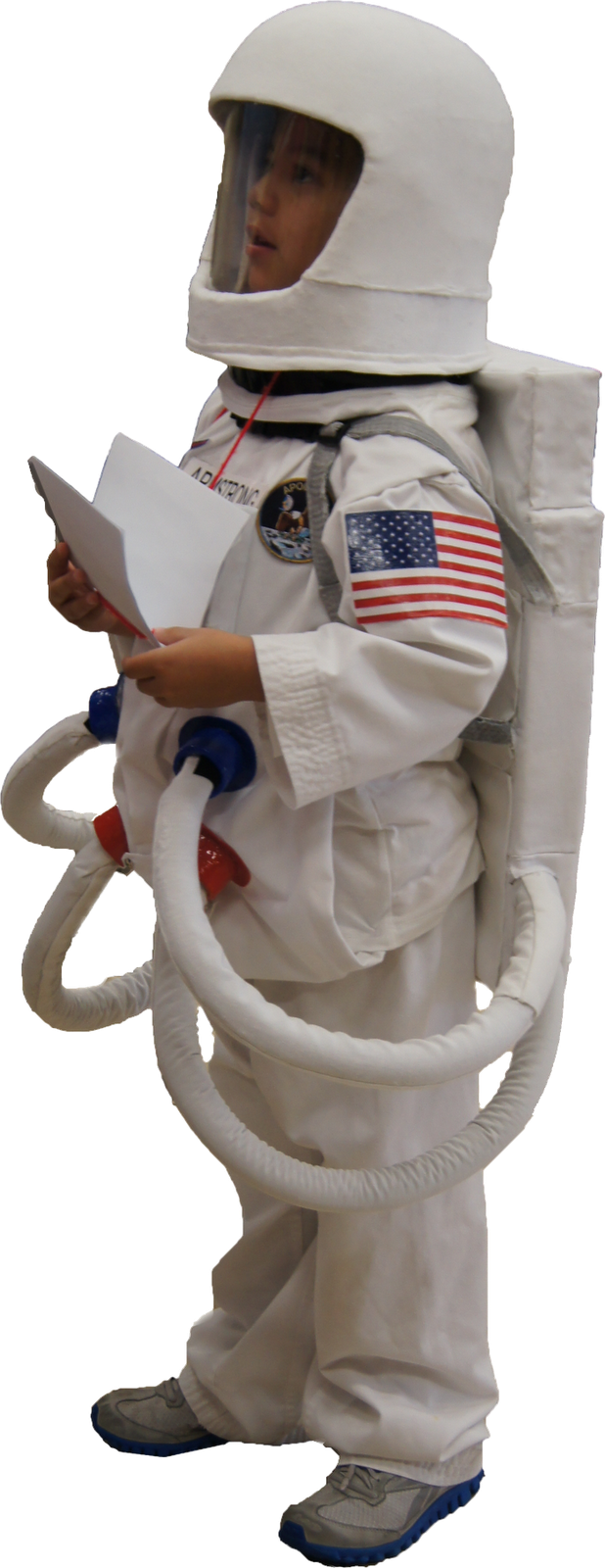 Astronaut Costume Hot glue gun