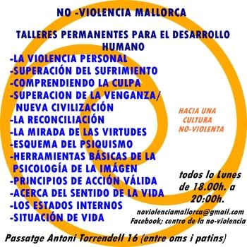 Tallers de No-Violència a l'EcoXarxa (tots els dilluns)