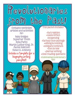 http://www.teacherspayteachers.com/Product/Black-History-Month-Packet-Revolutionaries-of-the-Past-w-MLK-Ruby-etc-1105789