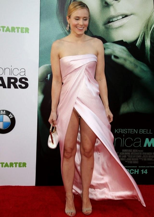 Kristen Bell deja ver su ropa interior