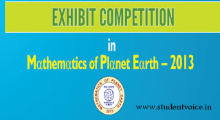 Mathematics Exhibits Competitions - Mathematics of Planet Earth (MPE) – 2013
