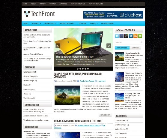 TechFront Blogger Template