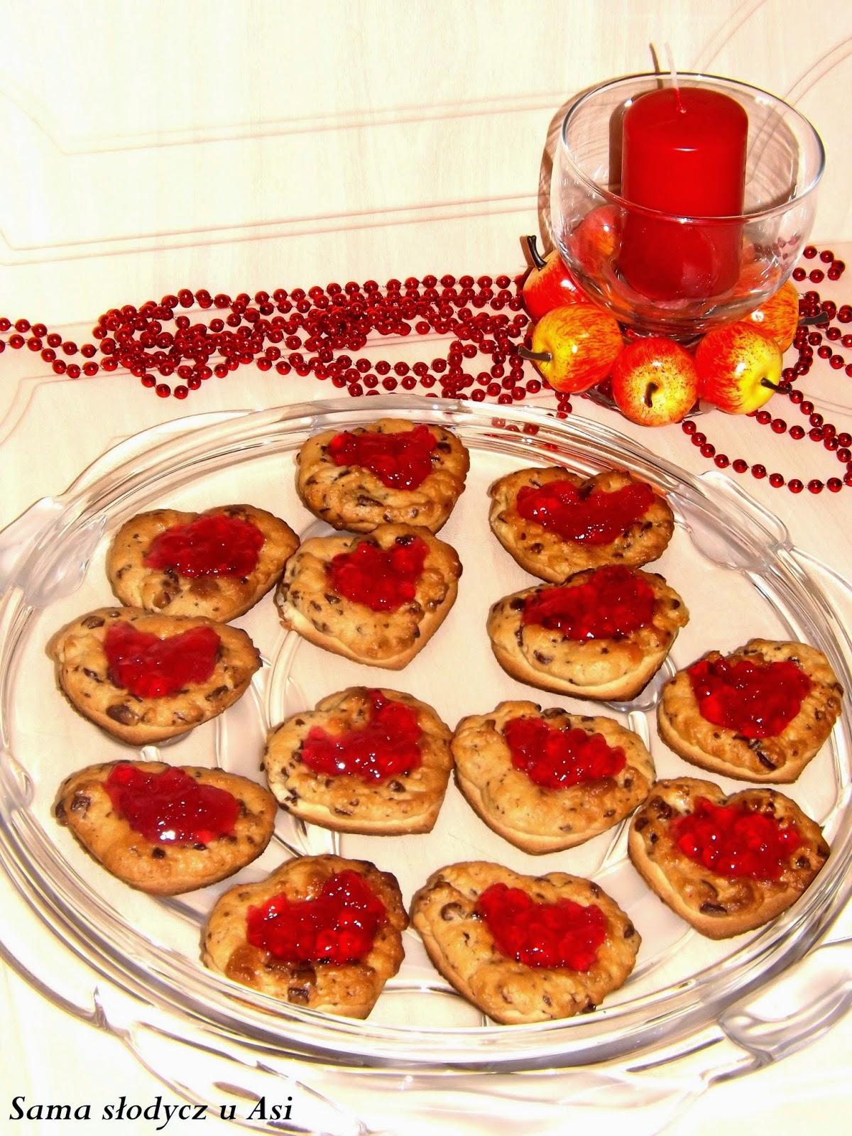 Marcepanowe ciasteczka z galaretką