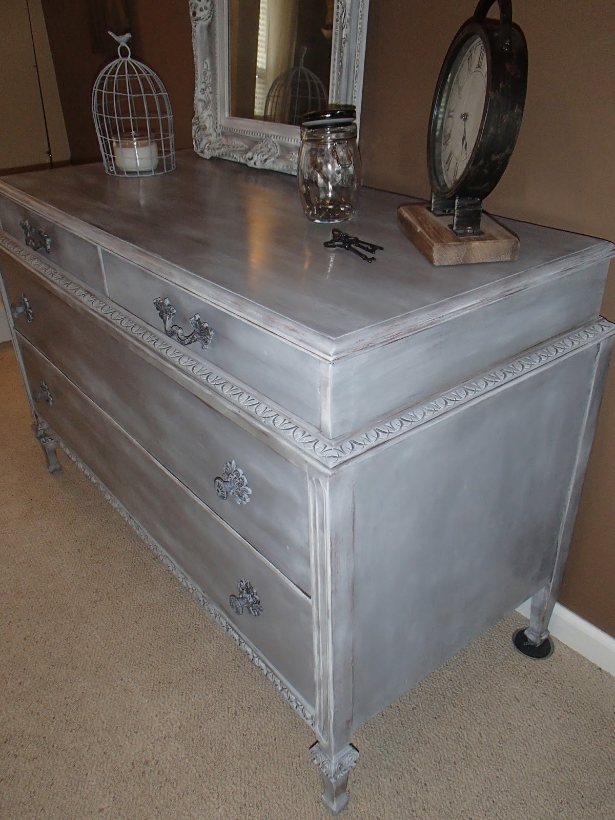 New Again Weathered French Grey Dresser