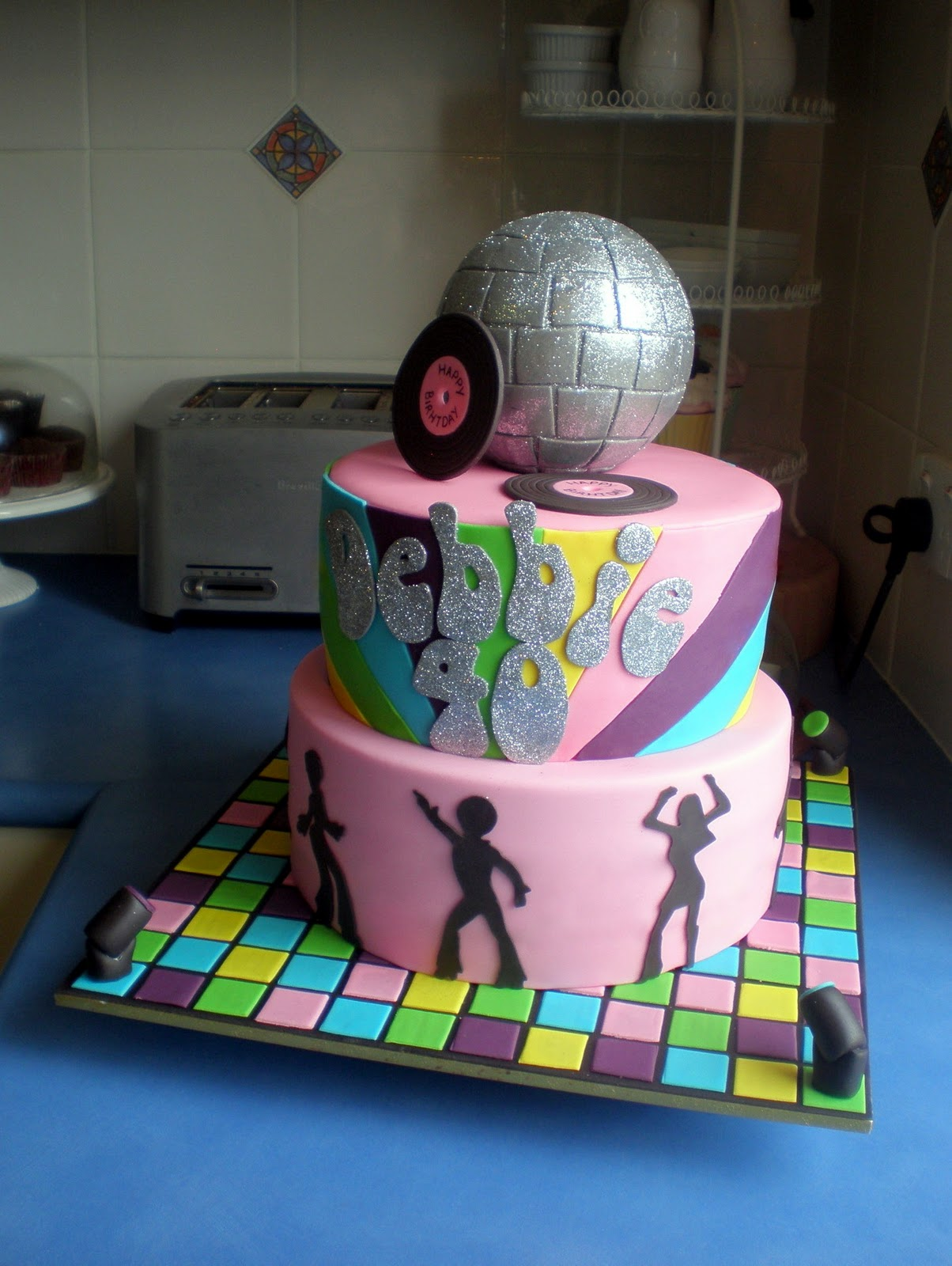 Disco Party Cake Images : Sugar Siren Cakes Mackay: 70 s Disco Birthday Cake