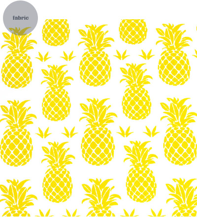Pineapple Fabric Cool Of Pineapple Print Fabric Image