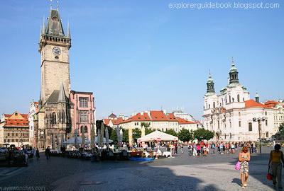 Old Town Hall St Nicholas Church Prague