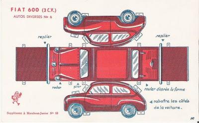 Moldes de carros, ônibus, meios de transporte para recortar, montar ou usar em maquetes!