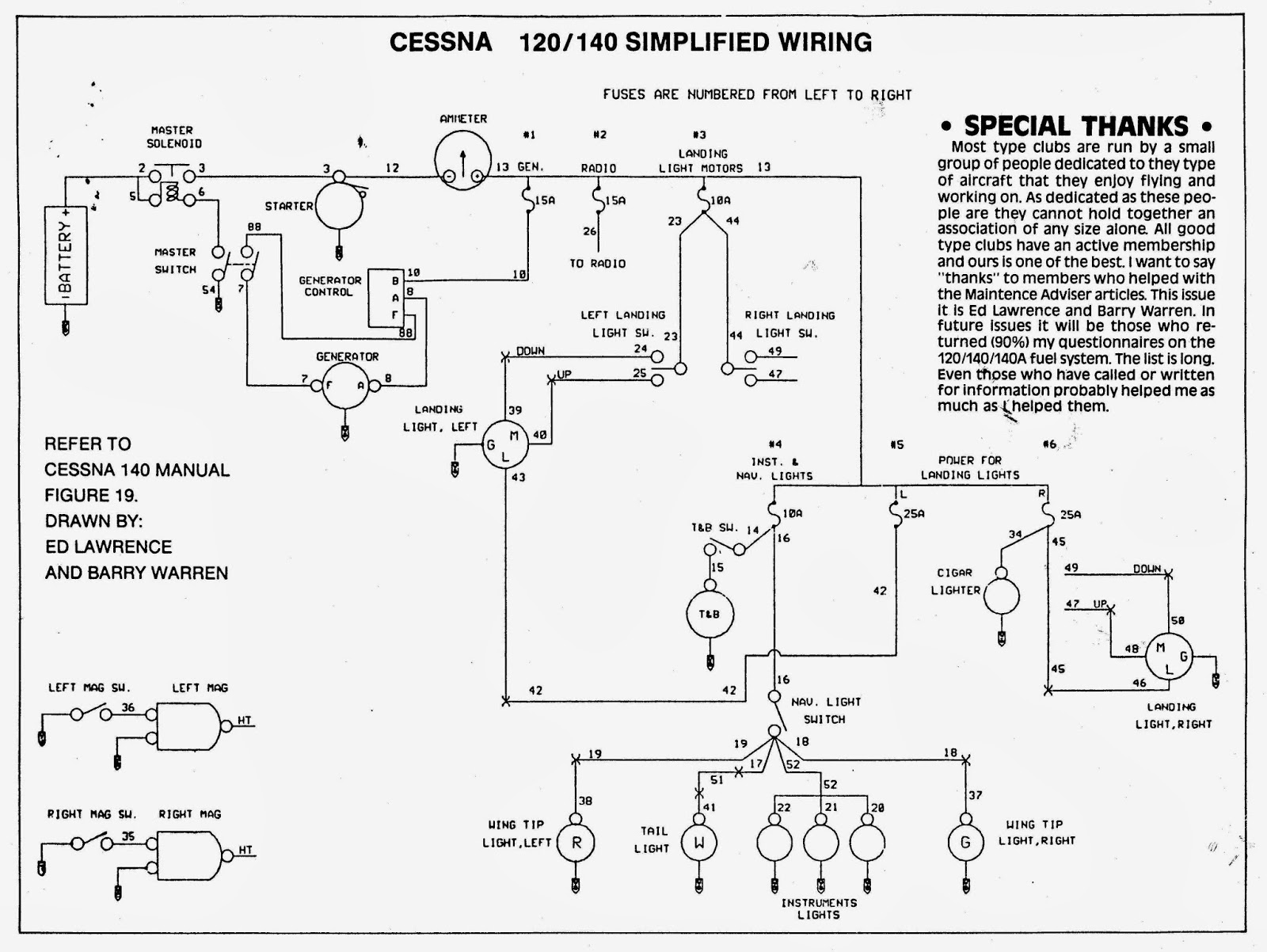 C 140+Simple+Wiring cessna 140 rebirth electrical loads & wiring cessna master switch wiring diagram at crackthecode.co