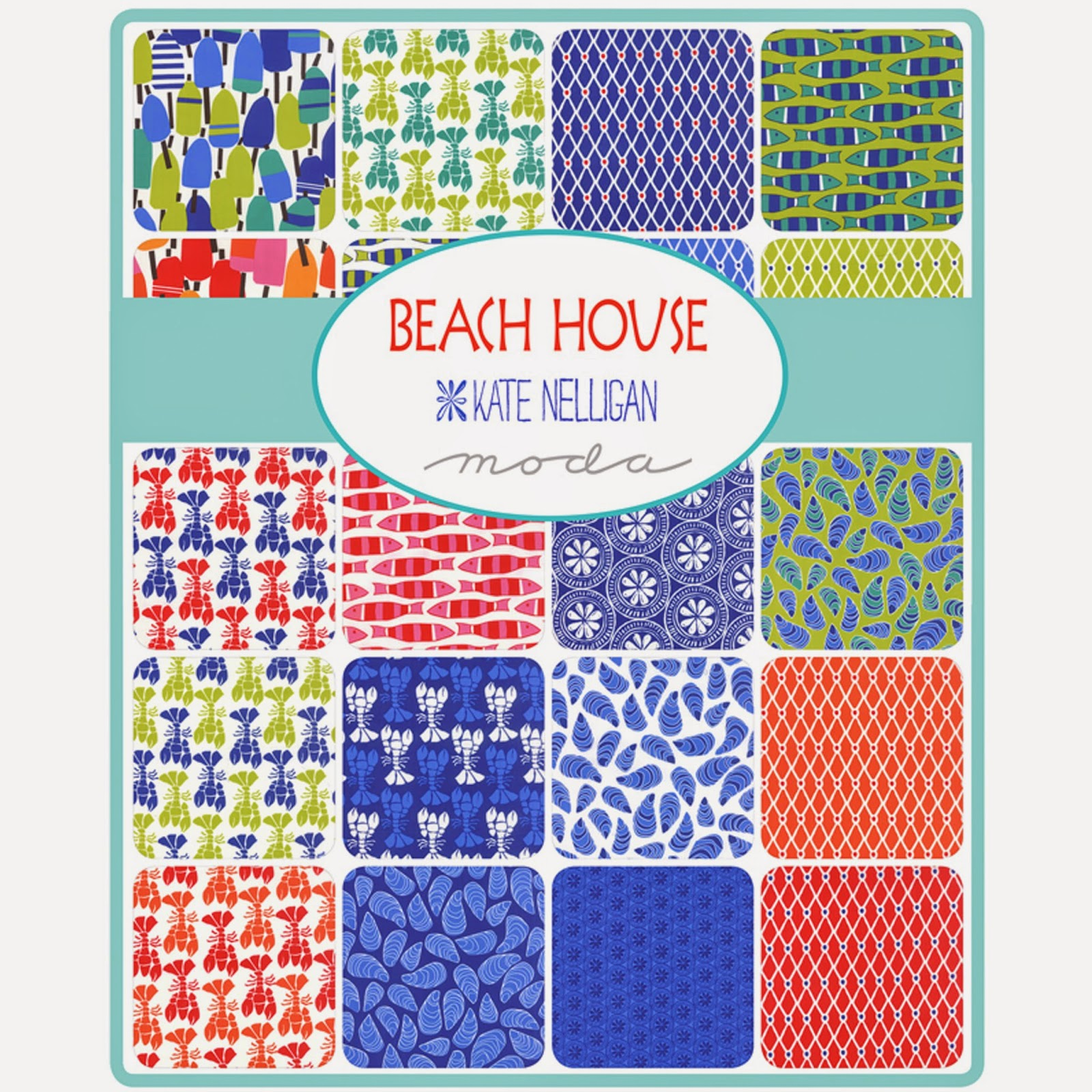 Moda BEACH HOUSE Fabric by Kate Nelligan for Moda Fabrics