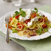 Espaguetis con Hinojo, Tomates Cherry y Requesón o Ricotta
