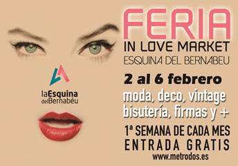 Cartel Feria In Love Market Madrid