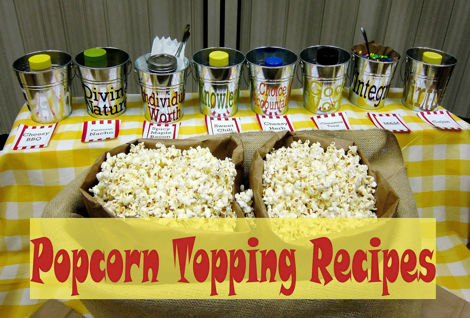 Superieur Popcorn Topping Recipes