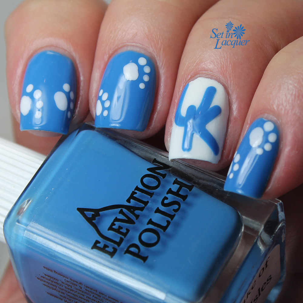 UK Wildcats are on fire: inspired nail art - Set in Lacquer