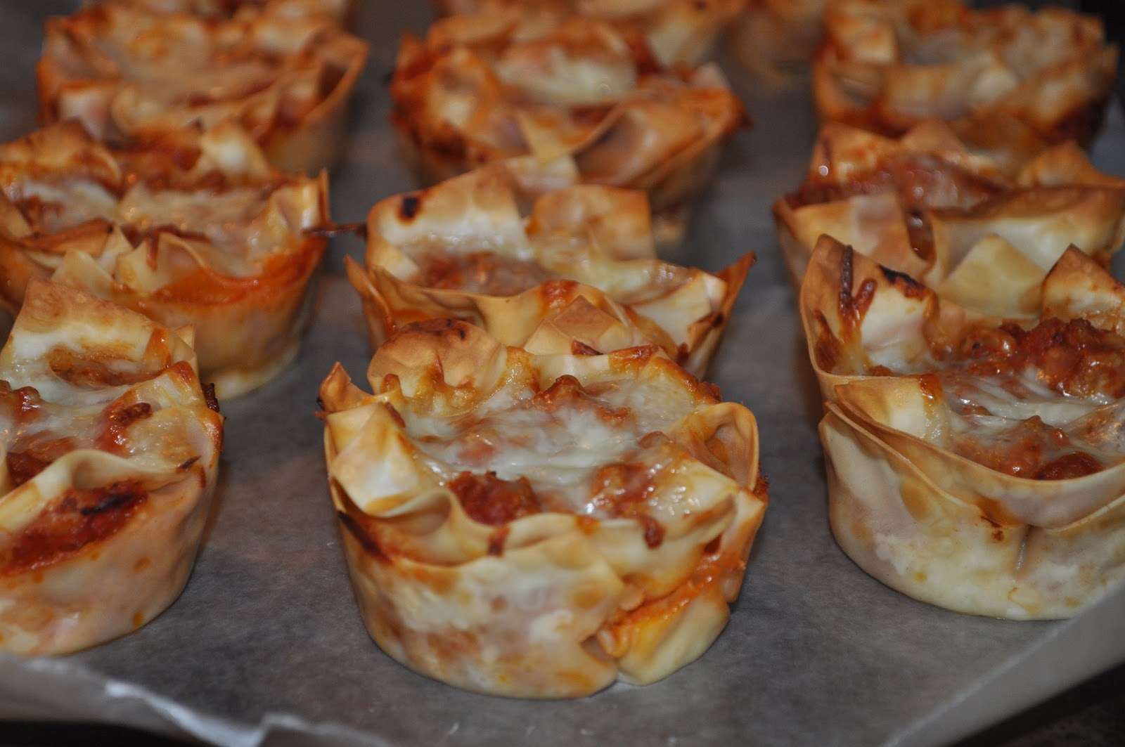 Life in my Kitchen...and beyond: #621: Lasagna Cupcakes