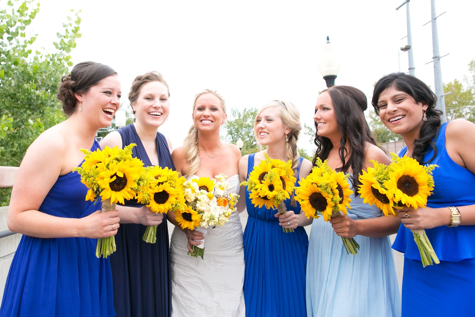 Bridesmaid dresses with sunflowers choice image braidsmaid dress good earth floral design studio blair jarrod pond photography kansas city wedding flowers florist overland park ombrellifo Gallery
