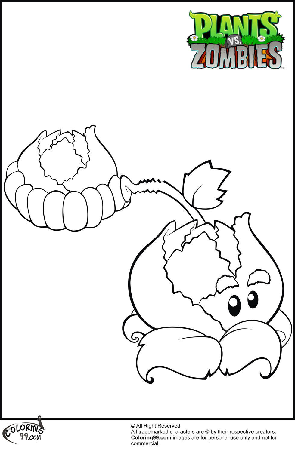 Coloring Pages For Plants Vs Zombies : Plants vs zombies coloring pages minister