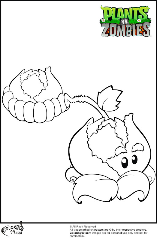 Plants VS Zombies Coloring Pages title=