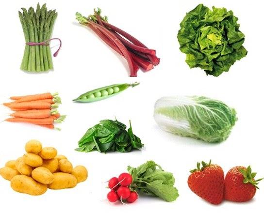 Bien tre by laeti boop les l gumes et fruits de la saison du printemps - Difference fruit et legume ...