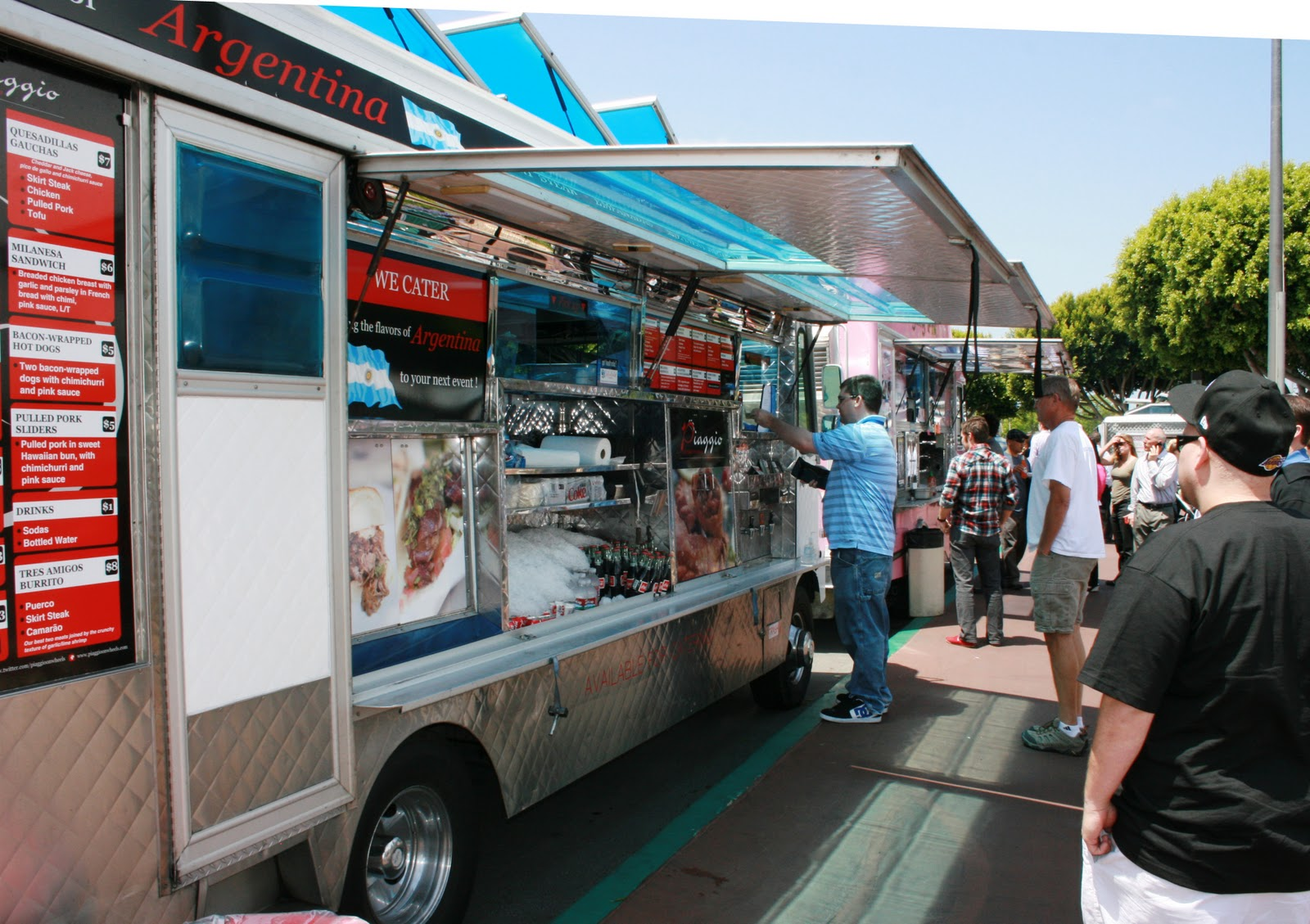 I went to find my friends  Linda and Nancy at a table nearby  They had  ordered the  Santa Fe Baker  an open faced baked potato from  Spud  Runners ciao  newport beach  orange county food trucks. Costa Mesa Fairgrounds Food Trucks. Home Design Ideas