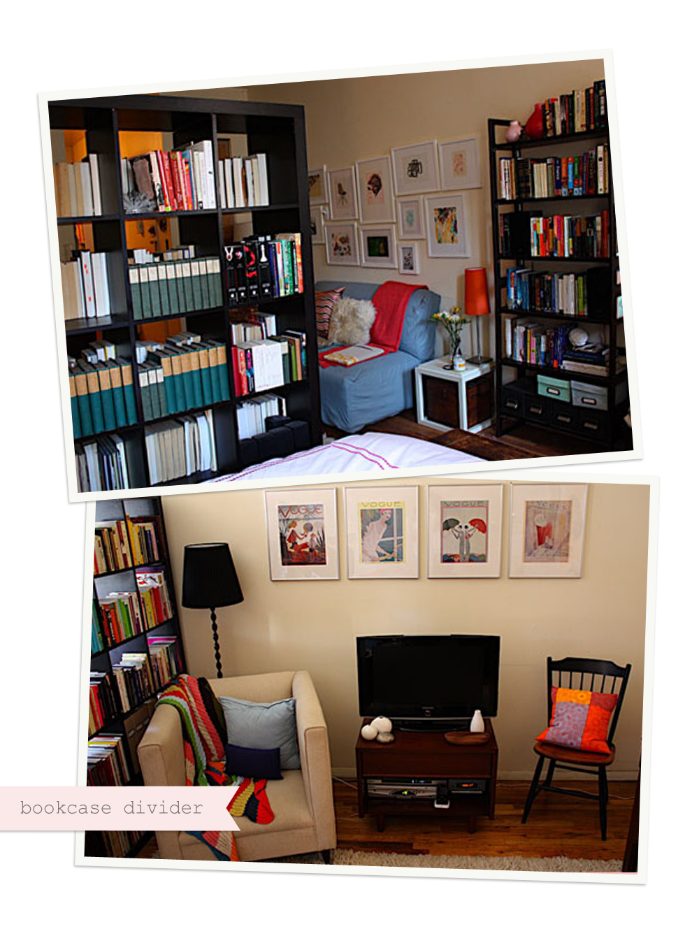 21 perfect using bookcases as room dividers - Bookshelves as room divider ...