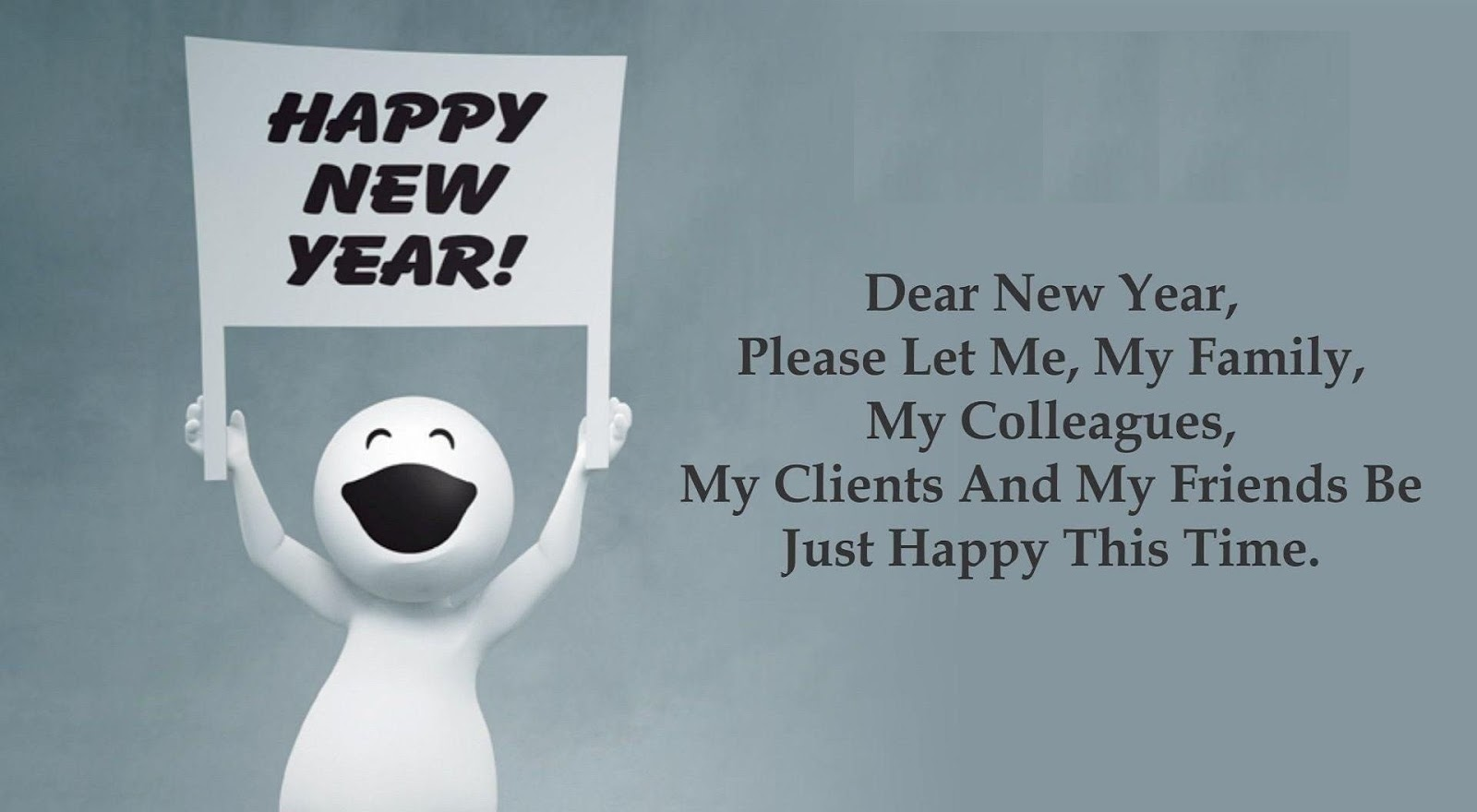 Happy new year 2014 simple wishing card funny} happy new year 2016 jokes sms happy new year 2017