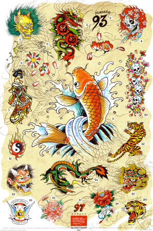Best tattoos for men ed hardy tattoos for Small japanese tattoos