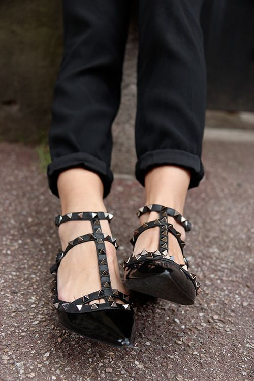 Ioanna's Notebook - High vs. Low Valentino Rockstud flats