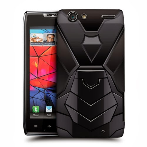 HEAD CASE BLACK ARMOUR COLLECTION BACK CASE COVER FOR MOTOROLA DROID RAZR XT910