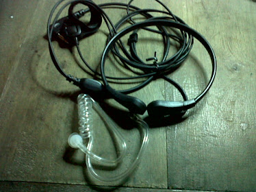 Head set Earphone Spiral transparan