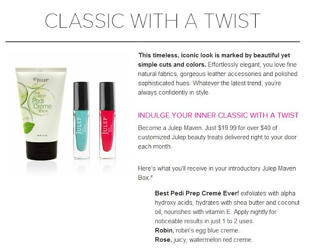 Julep, Classic With A Twist, Style Quiz, Website