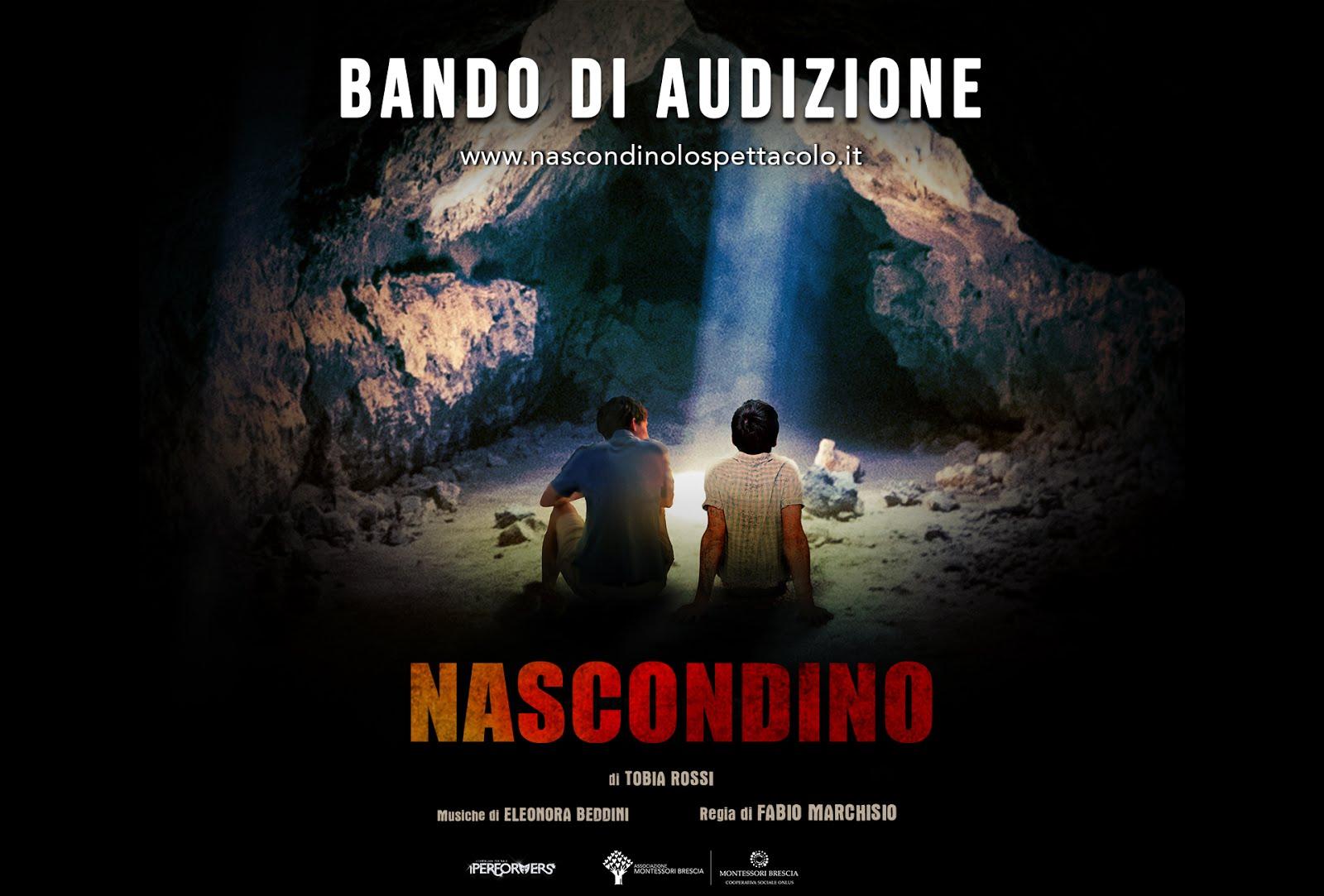 """SI CERCANO DUE ATTORI ADOLESCENTI UNDER 16 PER  """"NASCONDINO"""" regia di Fabio Marchisio"""