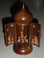 UNIQUE Wooden Hinged NATIVITY SCENE