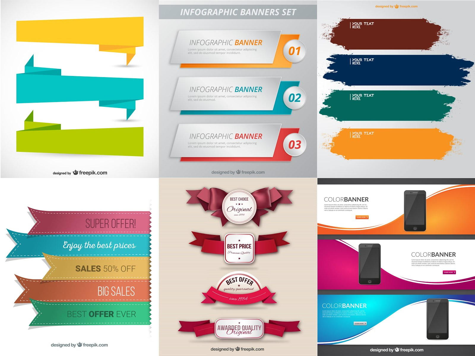Free vector infographic banners | Free vectors