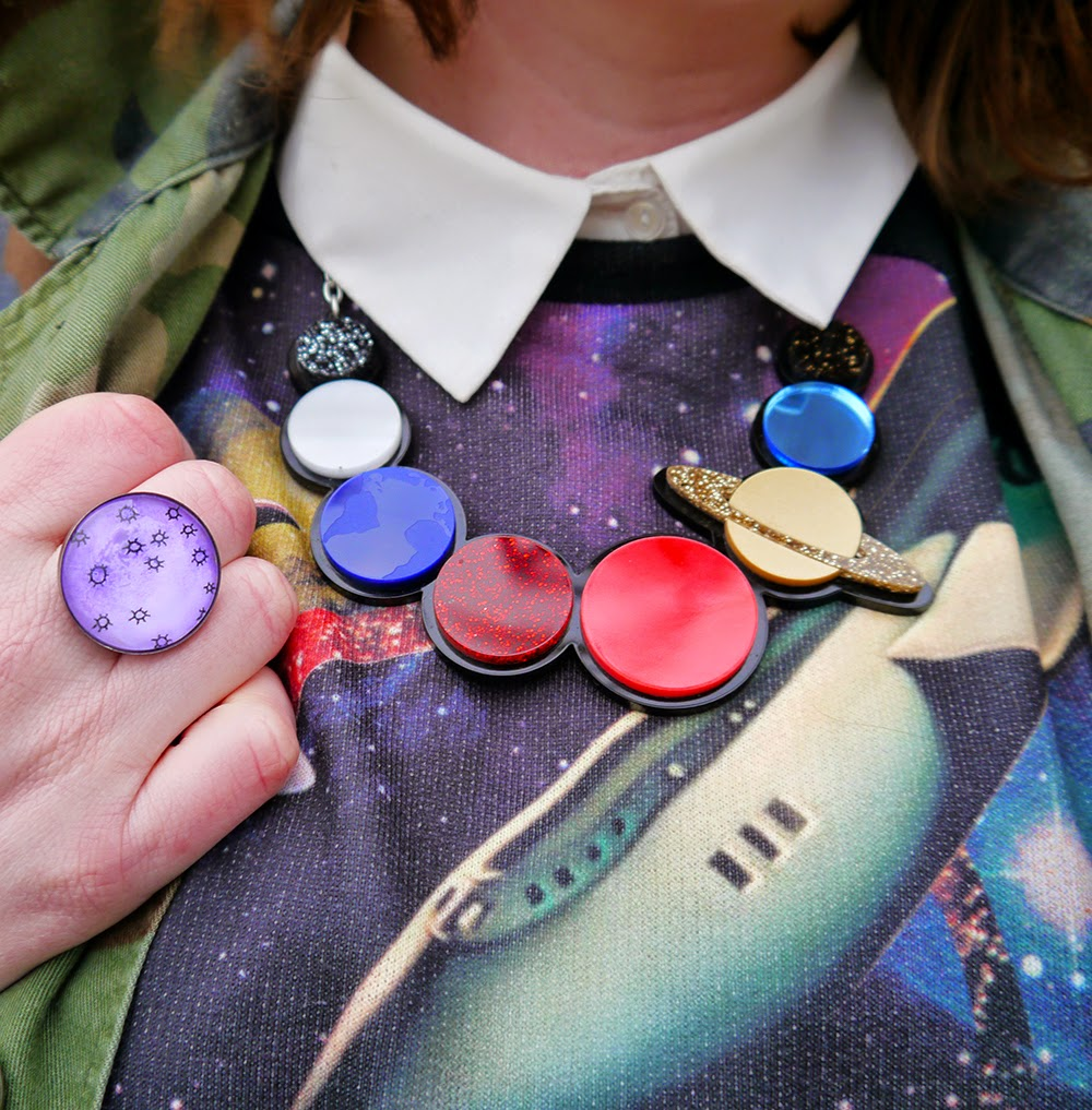 Be Our Guest, Guest Post, Little Sister, Scottish Blogger, Heather Mac, Mac In Your Face, Space Style, Topshop space jumper, Sugar & Vice space necklace, Lunan bay, Red Castle, Scotalnd, outfit post, Jolly Good moon ring