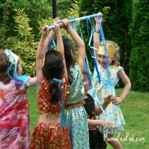 mermaid party ribbon limbo game