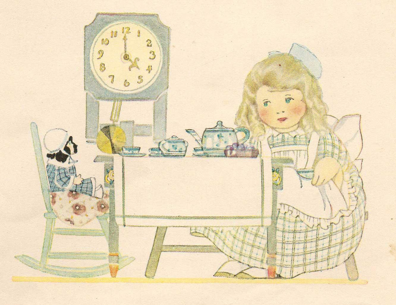 leaping frog designs tea time vintage annette wynne image. Black Bedroom Furniture Sets. Home Design Ideas