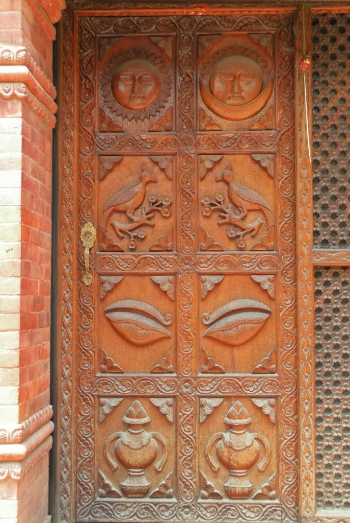 Namaste World: Wood-carved doors