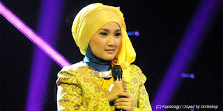 tutorial masang jilbab seperti fatin