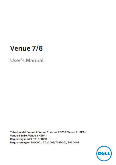 Dell Venue 7 Manual