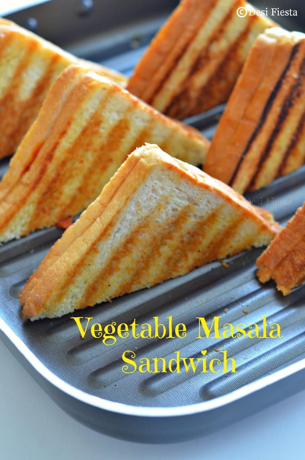 Grilled vegetable sandwhich