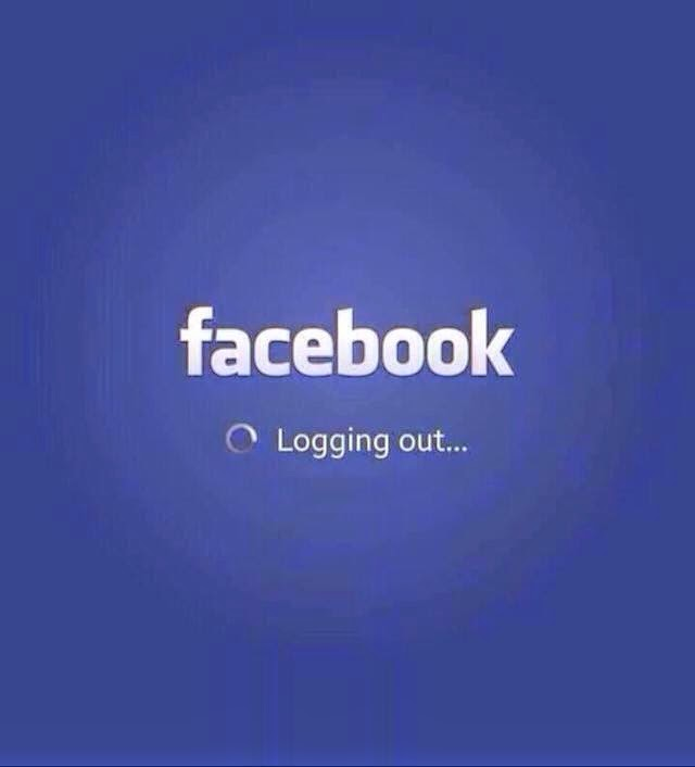 facebook logging out...