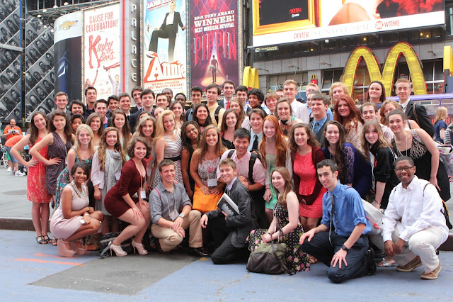2013 NHSMTA Nominees in Times Square; Henry McGee