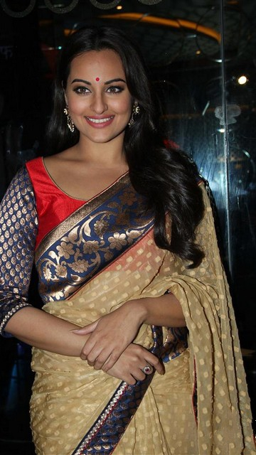 Sonakshi Sinha in Saree latest Wallpapers