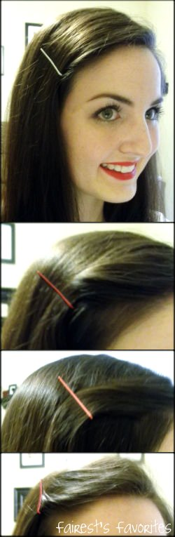 put some hairstyle ideas together using the bobby pins that i painted