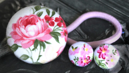 September Giveaway #4:  Floral Button Earrings