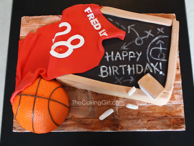 cool basketball theme birthday cake