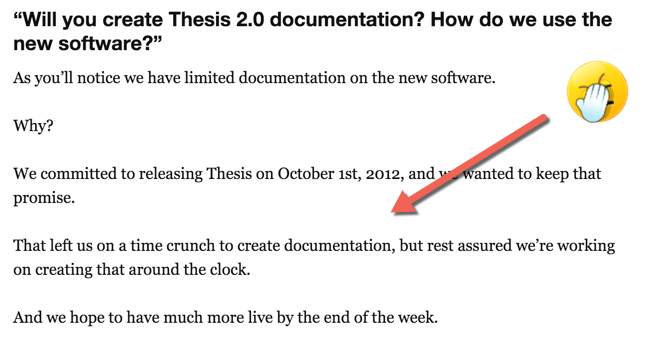 poor thesis documentation