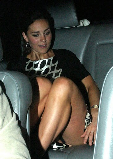 Kate middleton revealing her underwear as she gets into a car when